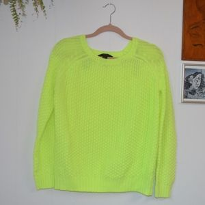 Neon Yellow Forever 21 Sweater